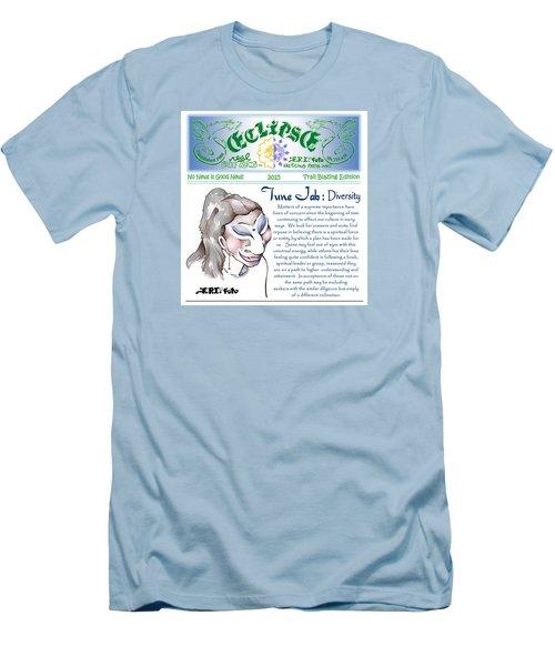 Real Fake News Spiritual Columnist 1 Men's T-Shirt (Slim Fit) by Dawn Sperry