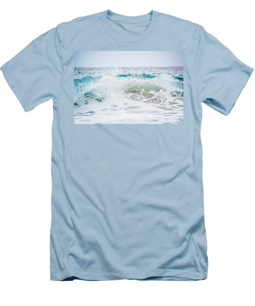 Turquoise Beauty Men's T-Shirt (Slim Fit) by Shelby Young