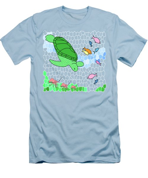 Turtle And Friends Men's T-Shirt (Slim Fit) by Methune Hively