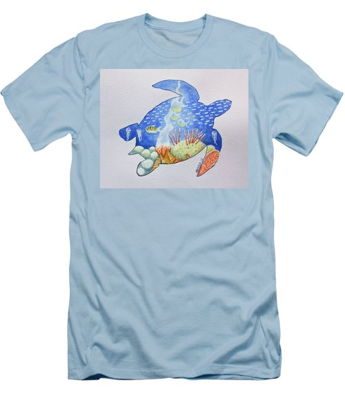 Turtle's World Men's T-Shirt (Athletic Fit)
