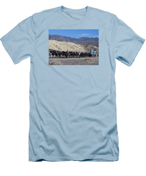 Men's T-Shirt (Slim Fit) featuring the photograph Twenty Mule Teams by Ivete Basso Photography
