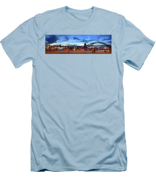 Men's T-Shirt (Athletic Fit) featuring the photograph Twilight By The Bridge By Kaye Menner by Kaye Menner