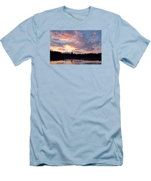 Twilight Glory Men's T-Shirt (Slim Fit) by Lynda Lehmann