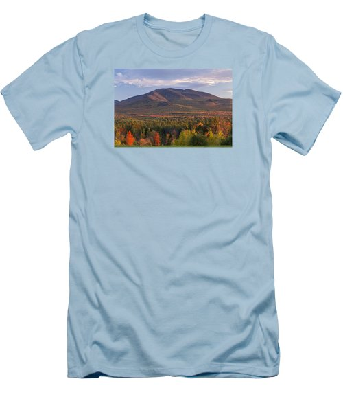 Twin Mountain Autumn Sunset Men's T-Shirt (Athletic Fit)