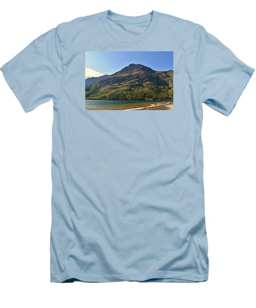 Men's T-Shirt (Slim Fit) featuring the photograph Two Medicine Lake by Dacia Doroff