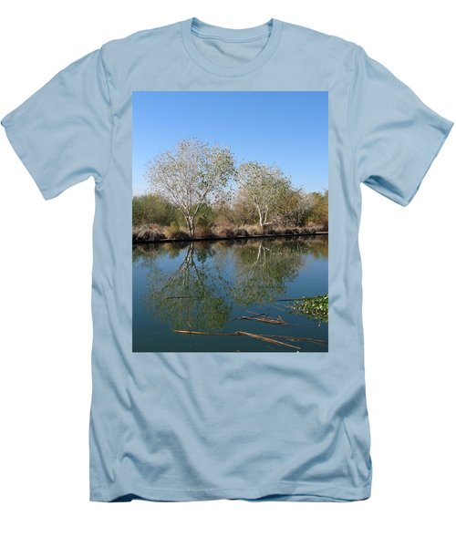 Men's T-Shirt (Slim Fit) featuring the photograph Two Reflected by Laurel Powell