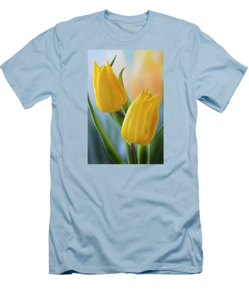 Two Yellow Spring Tulips Men's T-Shirt (Athletic Fit)