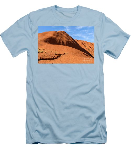 Men's T-Shirt (Athletic Fit) featuring the photograph Uluru 04 by Werner Padarin