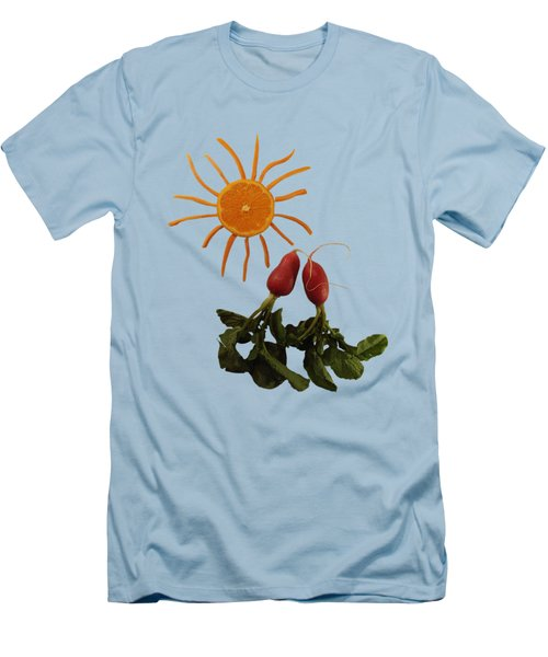 Under A Tangerine Sun - On Blue Men's T-Shirt (Athletic Fit)