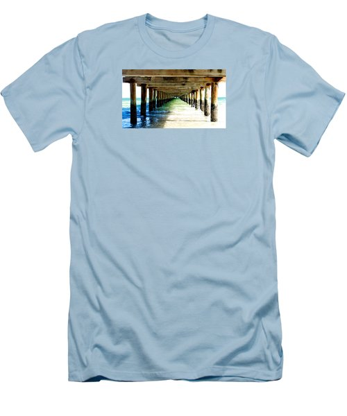 Men's T-Shirt (Slim Fit) featuring the photograph Anna Maria Island Pier Excellence In Photography Award 2016 by Margie Amberge