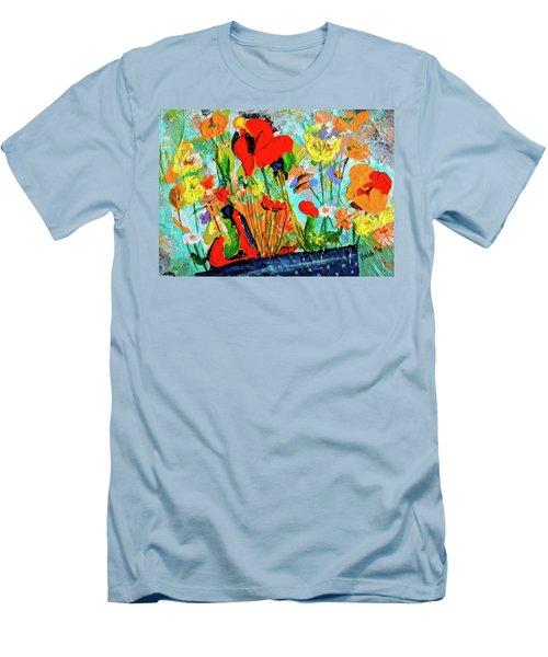 Unexpected Flower Basket Men's T-Shirt (Athletic Fit)