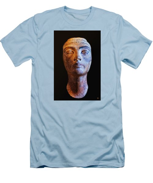 Men's T-Shirt (Slim Fit) featuring the photograph Unfinished Nefertiti by Nigel Fletcher-Jones