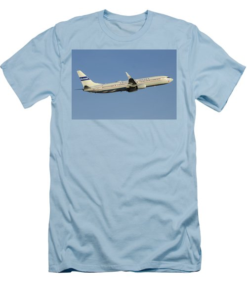 United Boeing 737-924 N75436 Retro Continental Phoenix Sky Harbor December 9 2015 Men's T-Shirt (Slim Fit) by Brian Lockett