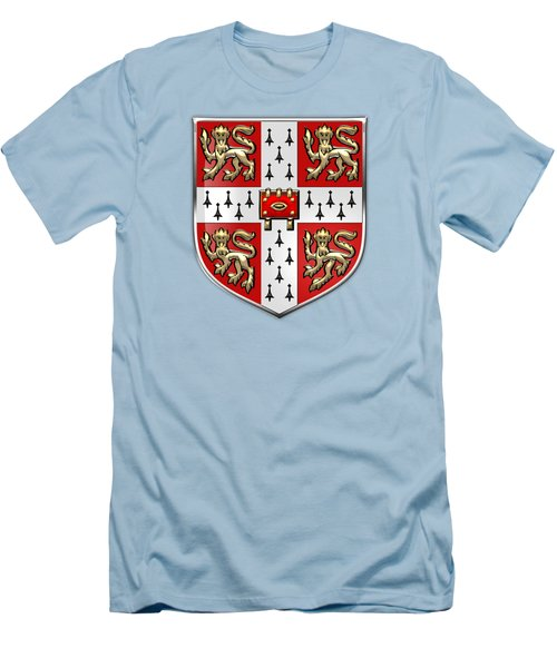 University Of Cambridge Seal - Coat Of Arms Over Colours Men's T-Shirt (Athletic Fit)