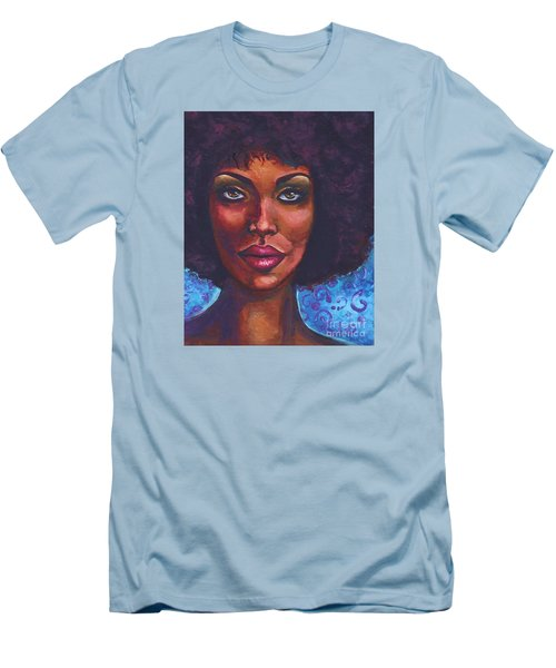 Men's T-Shirt (Slim Fit) featuring the painting Violet Haze by Alga Washington