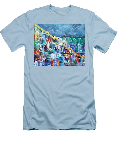 Men's T-Shirt (Athletic Fit) featuring the painting Untitled by Judith Rhue