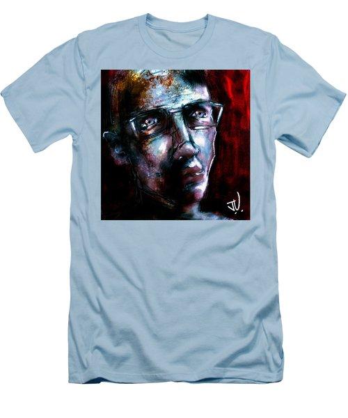 Men's T-Shirt (Athletic Fit) featuring the digital art Untitled Portrait - 09oct2017 by Jim Vance