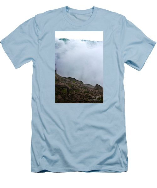 Men's T-Shirt (Slim Fit) featuring the photograph The Wall Of Water by Dana DiPasquale