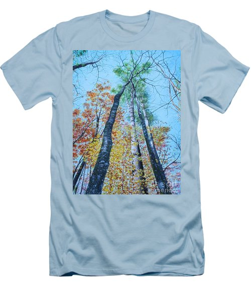 Up Into The Trees Men's T-Shirt (Slim Fit) by Mike Ivey