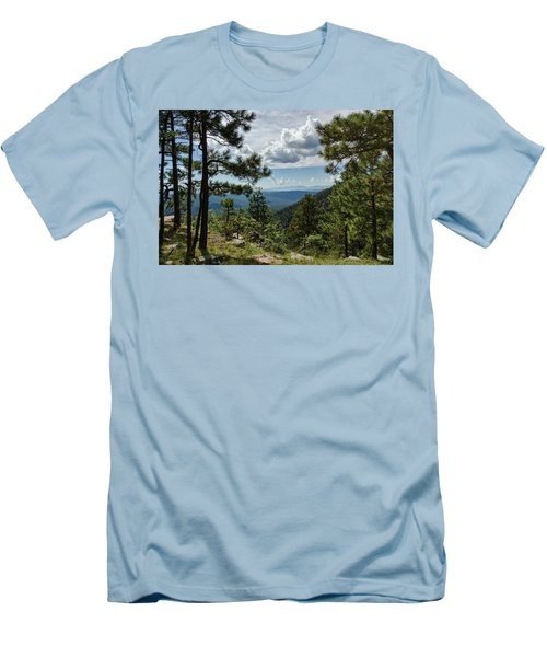 Men's T-Shirt (Athletic Fit) featuring the photograph Up On The Rim  by Saija Lehtonen