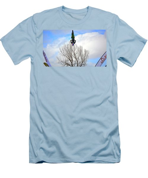 Men's T-Shirt (Slim Fit) featuring the photograph Upside Down And All Around by Barbara Dudley