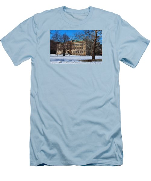 Us Court House And Custom House Men's T-Shirt (Slim Fit) by Michiale Schneider