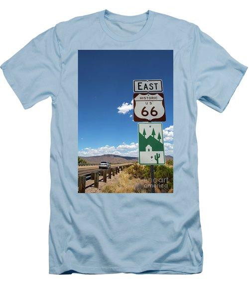 Us Route 66 Sign Arizona Men's T-Shirt (Athletic Fit)