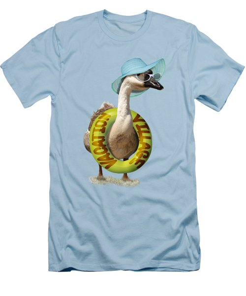 Vacation Time For Summer Goose Men's T-Shirt (Slim Fit) by Gravityx9 Designs