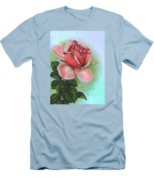 Men's T-Shirt (Slim Fit) featuring the digital art  Valentine's Day by Andrzej Szczerski