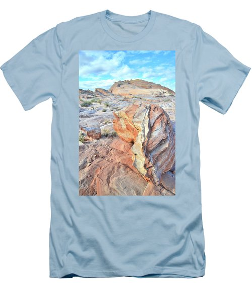 Valley Of Fire Alien Boulder Men's T-Shirt (Slim Fit) by Ray Mathis