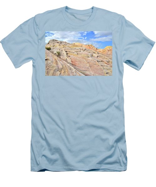 Valley Of Fire High Country Men's T-Shirt (Slim Fit) by Ray Mathis