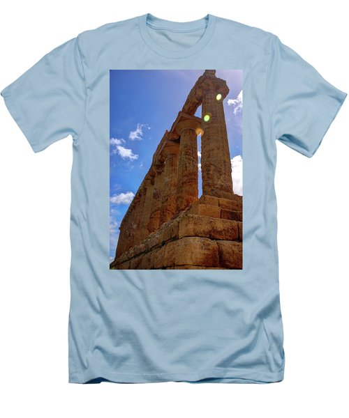 Valley Of The Temples Iv Men's T-Shirt (Slim Fit) by Patrick Boening