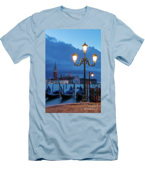 Men's T-Shirt (Slim Fit) featuring the photograph Venice Dawn V by Brian Jannsen