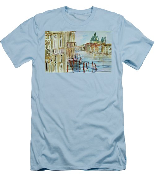 Men's T-Shirt (Slim Fit) featuring the painting Venice Impression IIi by Xueling Zou