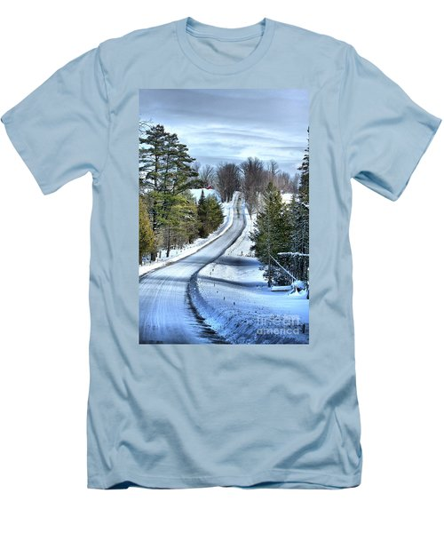 Vermont Country Landscape Men's T-Shirt (Slim Fit) by Deborah Benoit