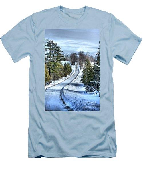 Vermont Country Landscape Men's T-Shirt (Athletic Fit)