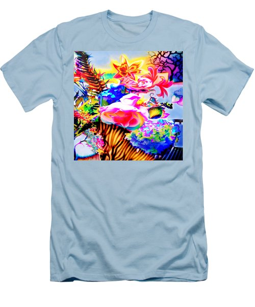 Men's T-Shirt (Slim Fit) featuring the photograph Vibe Vase by Adria Trail