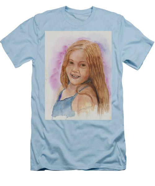 Men's T-Shirt (Slim Fit) featuring the painting Victoria by Donna Walsh
