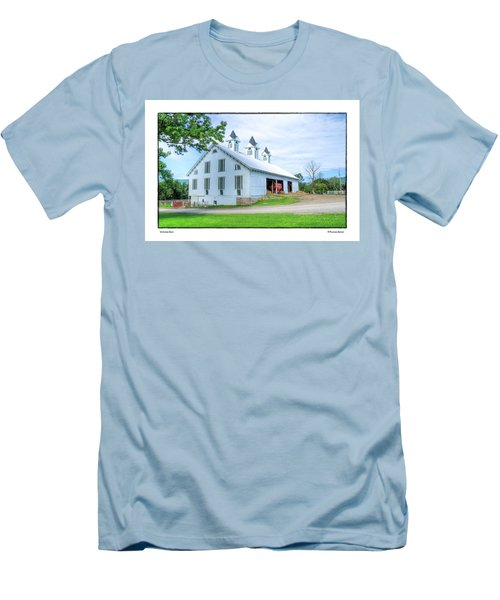 Men's T-Shirt (Slim Fit) featuring the photograph Victorian Barn by R Thomas Berner
