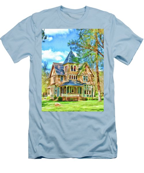 Men's T-Shirt (Slim Fit) featuring the photograph Victorian Painting by Wendy McKennon