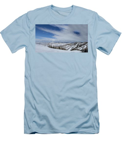 View From The Slope Men's T-Shirt (Slim Fit) by Sean Allen