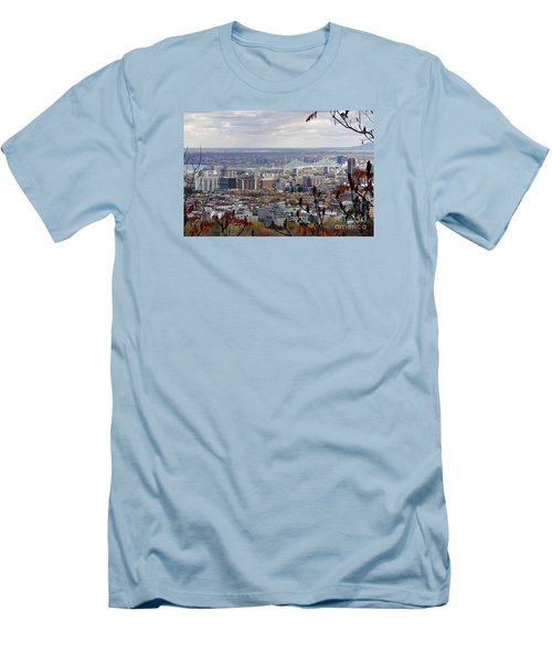 View Of The Jacques Cartier Bridge Men's T-Shirt (Athletic Fit)