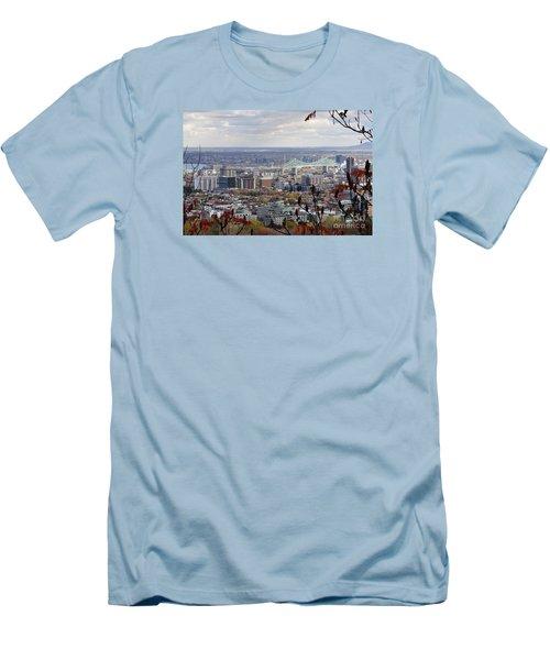 View Of The Jacques Cartier Bridge Men's T-Shirt (Athletic Fit)