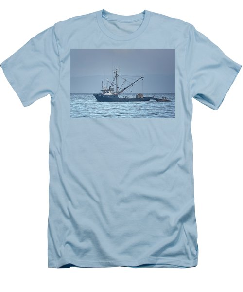 Men's T-Shirt (Slim Fit) featuring the photograph Viking Fisher 3 by Randy Hall