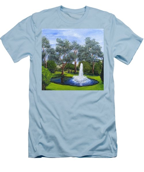 Village Fountain Men's T-Shirt (Athletic Fit)
