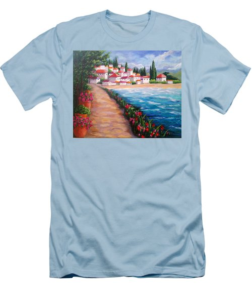Villas By The Sea Men's T-Shirt (Athletic Fit)