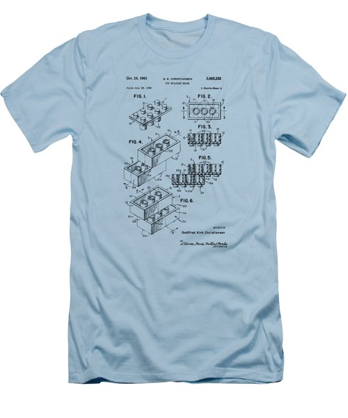 Vintage 1961 Toy Building Brick Patent Art Men's T-Shirt (Athletic Fit)