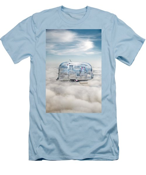 Vintage Camping Trailer In The Clouds Men's T-Shirt (Athletic Fit)