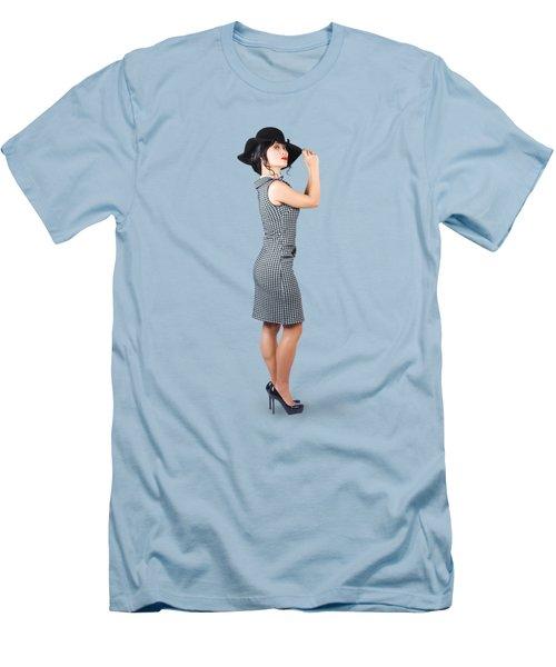 Vintage Summer Clothes Woman. Full Length Portrait Men's T-Shirt (Athletic Fit)