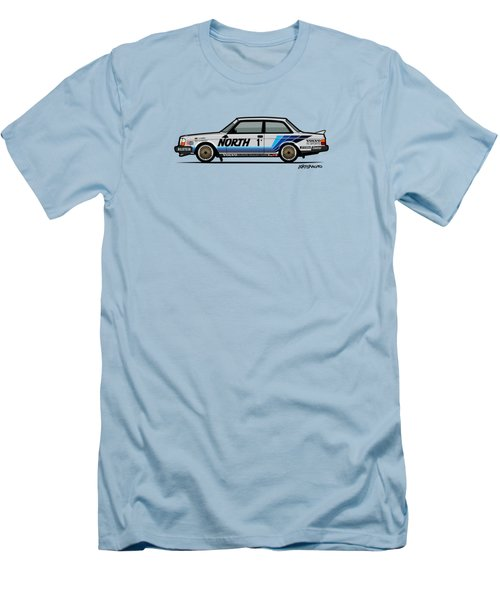 Volvo 240 242 Turbo Group A Homologation Race Car Men's T-Shirt (Athletic Fit)